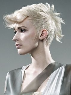 I always want to do funky cuts like this, then I want my hair to be long.
