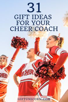 31 Cheer Coach Gift Ideas That Will Make them Jump for Joy! Cheer Coach Gifts, Baseball Coach Gifts, Softball Gifts, Cheer Gifts, Basketball Gifts, Sports Gifts, Gifts For Cheer Coaches, Cheerleading Moves, Cheerleading Gifts