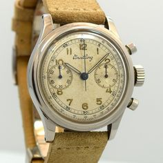 Case Very Good Case Original, Case Dimensions: x lug to lug, Movement Excellent Condition Original Manual Caliber Venus 165 Jewels 19 Dial Original Hands Steel Index, Empty Luminous Strap Ne Old Watches, Vintage Watches, Watches For Men, 1950s Jewelry, Patek Philippe, Breitling, Vintage Men, Chronograph, Omega Watch