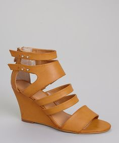 Look at this #zulilyfind! Tan Senso Wedge Sandal #zulilyfinds