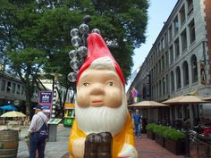 the boston garden gnome: wandering around in quincy market/faneuil hall are...