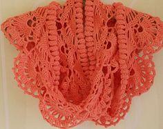 Crochet scarf pattern pdf, crochet shawl pattern, Crochet scarf PATTERN, crochet pattern shawl, crochet pattern scarflette, INSTANT DOWNLOAD