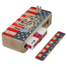 USA Flag Wood Cribbage Board ***** Presidents Day Sale - SAVE UP TO $100! Ends Monday Code: BUYNSAVEDEAL *****