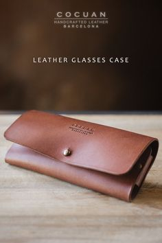 Perfect fit for almost all kind of glasses. This glasses case is made of full grain natural vegetable tanned leather. It's tanned in Igualada (Barcelona – Spain) is a place with an old tradition with tanneries. Natural variations in the leather surface are the evidence of real hide. Holes are made withindividual holes punched by hand. All edges are finished by hand too.