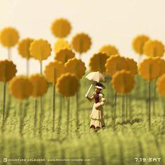 """Avec son projet """"Miniature Calendar"""", l'artiste japonais Tanaka Tatsuya s'amuse à créer chaque jour une adorable scène miniature en utilisant les objets du"""