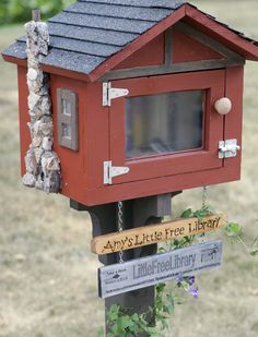 Little Free Library near the corner of Hanover St. and Mayfield Ln. in Madison, WI. Photo by Michelle Stocker