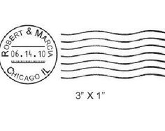 Wedding Postmark Custom Rubber Stamp AD53