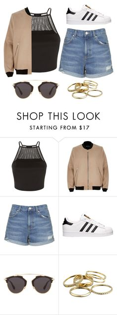 """""""Casual"""" by jaialee0304 ❤ liked on Polyvore featuring River Island, Topshop, adidas, Christian Dior and Kendra Scott"""