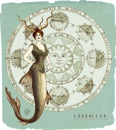 My Vintage Horoscope -Capricorn- by ~Momothecat on deviantART