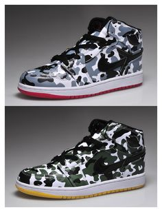 Air Jordan 1 camo men shoes