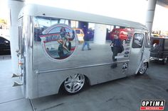 Custom delivery van at #SEMA 2013