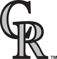 Colorado Rockies Alternate Logo (1993) - Interlocking CR in black with silver accents