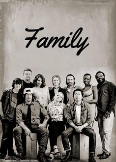 The Walking Dead family. If there was an emoji for tears of joy...I would totally use it right now. I miss the whole family together but I love the show SO much.