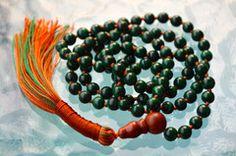 AAA Quality Malachite Hand Knotted Powerful Mala Beads Necklace - Karm – AwakenYourKundalini