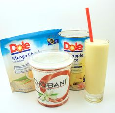 McDonald's Pineapple Mango Smoothie- the healthy version...making these today! With fresh fruit of course:)