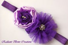 Pretty Light Purple Headband for Girls or Headbands by RadiantBows, $10.99