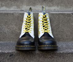 November: Dr. Martens Illustrator of the Month - Jake Haynes, student illustrator customised a pair of 1460s