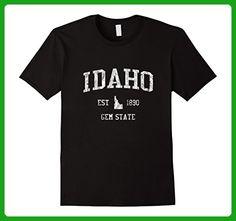 Mens Retro Idaho T Shirt Vintage Sports Tee Design Large Black - Sports shirts (*Amazon Partner-Link)
