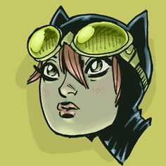 Green goggles on Holly Robinson Catwoman