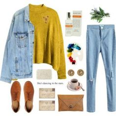 b3c59faf A fashion look from November 2015 featuring H&M sweaters, Levi's jackets and  ASOS oxfords.