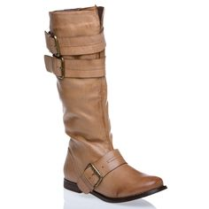 strapped boot