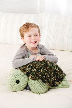 Turtle #Pillow Pal #Crochet #MichaelsStores