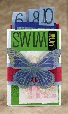 Club Scrap Retreat 2011, Winged Butterfly, chalk on versamark on dark paper technique for butterfly