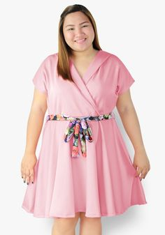It's a day to remember with you wearing this peach overlap style dress. Neoprene fabric, gartered waist with floral waist tie. A look that's oh-so-lovely! Office Dresses, Casual Dresses, Fashion Dresses, Designer Party Dresses, A Day To Remember, Peach, Floral, Fabric, How To Wear