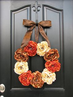 Thanksgiving, Thanksgiving Feast, Thanksgiving Decorations, Autumn Decor, Front Door Wreaths, Holidays, Harvest. $85.00, via Etsy.