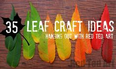 Gorgeous Leaf Crafts for Autumn and Thanksgiving. Check out these stunning leaf crafts and incorporate them in your Thanksgiving and Fall activities! Autumn Leaves Craft, Autumn Crafts, Fall Crafts For Kids, Autumn Art, Nature Crafts, Art For Kids, Fall Leaves, Leaf Crafts, Tree Crafts