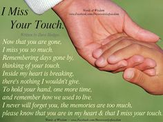 Dave's Words of Wisdom: I Miss Your Touch