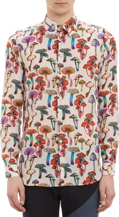 Paul Smith Mushroom-print Shirt in Multicolor for Men | Lyst