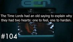 Almost made me cry. So then when that half doctor half human was created with Donna, is he all feelings or all hardening? Comment >>>