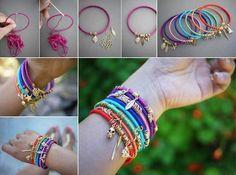 Colourful Wrap Bangles