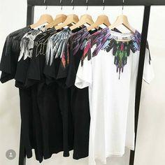 325647ab3d3e Marcelo Burlon T Shirts Men Women 1:1 Italy County Of Milan Feather Wings  MB T shirt RODEO MAGAZINE Tee Marcelo Burlon T Shirts-in T-Shirts from  Men's ...