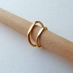 Wedding Band Set - Wedding Ring Set - Gold Wedding Rings - Commitment Rings - 22k Solid Gold. $920.00, via Etsy.