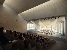 VALLS MUSIC CONSERVATORY (TARRAGONA) - KONIKAstudio.com Architecture, render, 3d visualization