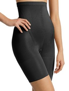 How to look slimmer — instantly! Goal: Show off a svelte figure. If you need extra help tucking in that tummy, a body shaper is your best bet. The In-Power Line Super Higher Power Tummy Control Shaper undergarment by Spanx ($38, nordstrom.com) easily slips over your midsection and thighs to magically slim both areas. Bonus: Shapewear also prevents unwanted jiggle.