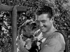 George Reeves & Mini Schnauzer Sam