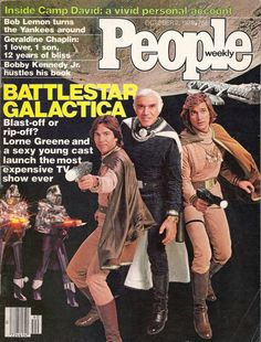People magazine with Battlestar Galactica October 1978 Aliens, Science Fiction, Battlestar Galactica 1978, Lorne Greene, Sci Fi Tv Shows, Star Wars, Architecture Quotes, Education Humor, Movies