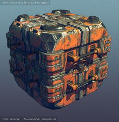 Frank Vanderwel's Art Blog: Sci-Fi Crate, Low Poly