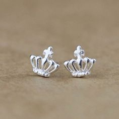 Cute Crown Silver Earring Stud for only $14.90 ,cheap Earrings Studs - Jewelry&Accessories online shopping,The Cute Crown Silver Earring Stud is very cute and unique.It will be the perfect gift for her!