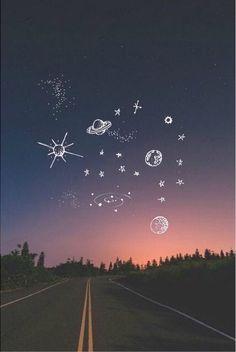 Картинка с тегом «stars, sky, and planet»