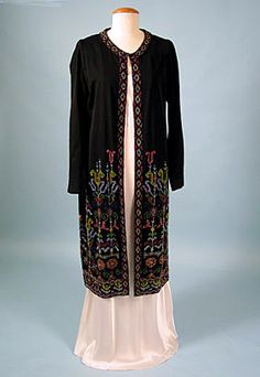 * Colorful Beaded Evening Coat, c. 1930