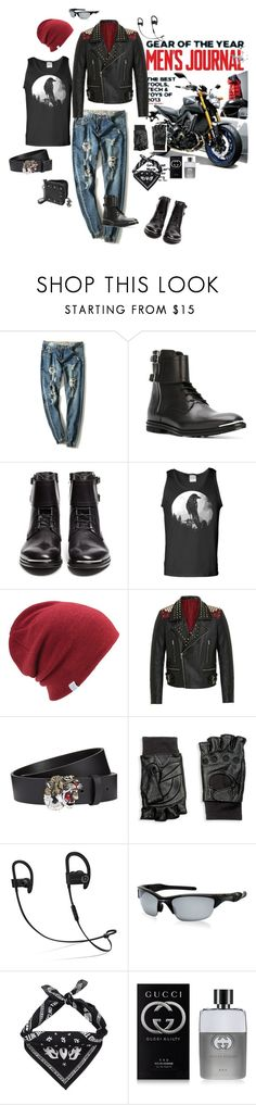 """Весна 2017"" by babayka-lesovichek ❤ liked on Polyvore featuring Alexander McQueen, Coal, RADDAR7, Gucci, Hilts Willard, Beats by Dr. Dre, Oakley, Kenzo, Valentino and men's fashion"