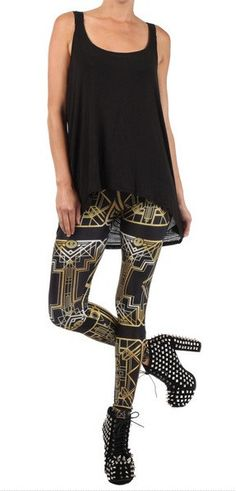 Gatsby Leggings: http://shop.nylonmag.com/collections/whats-new/products/gatsby-leggings #NYLONshop