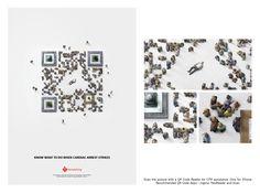 """QR code humain pour la """"Dutch Heart Foundation"""""""
