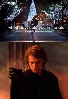Oh Anakin...  Pinned for previous comment. :) and, in his defense, he often would catch her in a hug and spin her around.... just sayin...