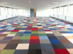 Gekleurde tapijttegels