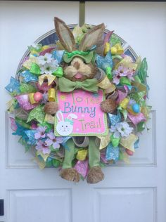 Easter wreath I just finished...like him better than my swag I made earlier.